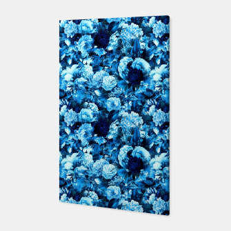 winter flowers seamless pattern 01 small icy blue Canvas thumbnail image