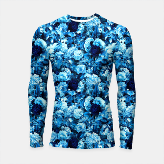 winter flowers seamless pattern 01 small icy blue Longsleeve rashguard  thumbnail image