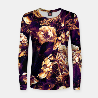 winter flowers seamless pattern 01 big late sunset Women sweater thumbnail image