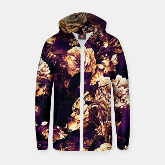 winter flowers seamless pattern 01 big late sunset Zip up hoodie thumbnail image