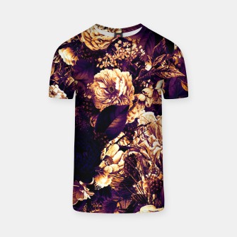 winter flowers seamless pattern 01 big late sunset T-shirt thumbnail image