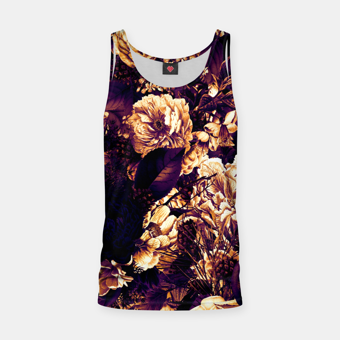 Image of winter flowers seamless pattern 01 big late sunset Tank Top - Live Heroes