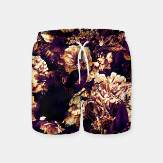 winter flowers seamless pattern 01 big late sunset Swim Shorts thumbnail image