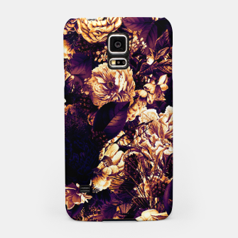 winter flowers seamless pattern 01 big late sunset Samsung Case thumbnail image