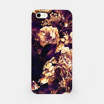 winter flowers seamless pattern 01 big late sunset iPhone Case thumbnail image