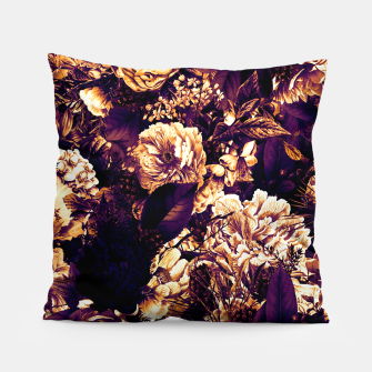 winter flowers seamless pattern 01 big late sunset Pillow thumbnail image