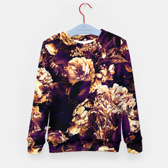 winter flowers seamless pattern 01 big late sunset Kid's sweater thumbnail image