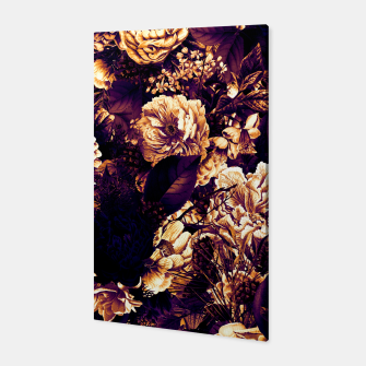winter flowers seamless pattern 01 big late sunset Canvas thumbnail image