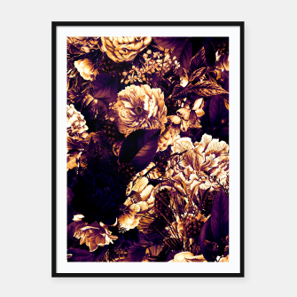 winter flowers seamless pattern 01 big late sunset Framed poster thumbnail image