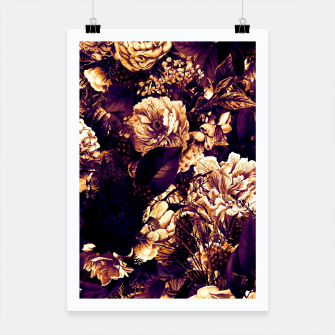 winter flowers seamless pattern 01 big late sunset Poster thumbnail image