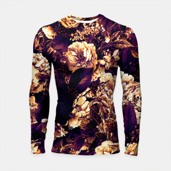 winter flowers seamless pattern 01 big late sunset Longsleeve rashguard  thumbnail image