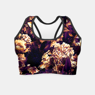 winter flowers seamless pattern 01 big late sunset Crop Top thumbnail image