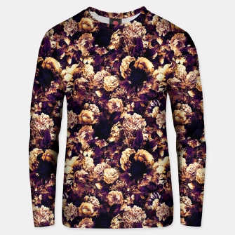 winter flowers seamless pattern 01 small late sunset Unisex sweater thumbnail image