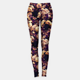 Miniaturka winter flowers seamless pattern 01 small late sunset Leggings, Live Heroes