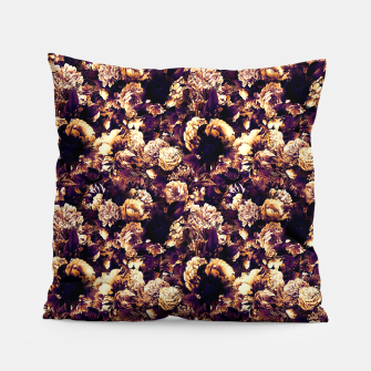 winter flowers seamless pattern 01 small late sunset Pillow thumbnail image