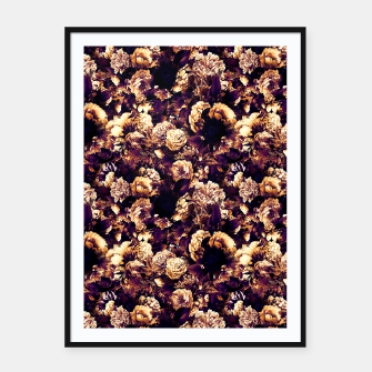 winter flowers seamless pattern 01 small late sunset Framed poster thumbnail image