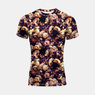 winter flowers seamless pattern 01 small late sunset Shortsleeve rashguard thumbnail image
