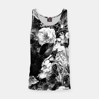 winter flowers seamless pattern 01 big light black white Tank Top thumbnail image