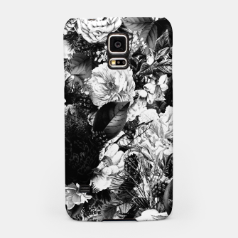 winter flowers seamless pattern 01 big light black white Samsung Case thumbnail image