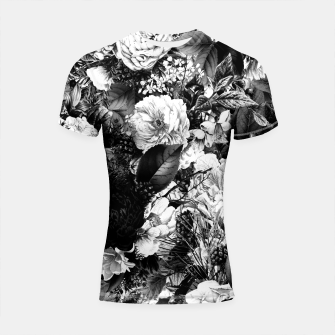 winter flowers seamless pattern 01 big light black white Shortsleeve rashguard thumbnail image