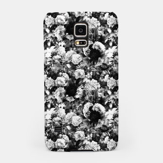 winter flowers seamless pattern 01 small light black white Samsung Case thumbnail image