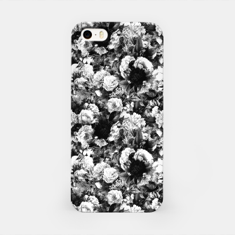 winter flowers seamless pattern 01 small light black white iPhone Case thumbnail image