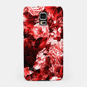 winter flowers seamless pattern 01 big lovely red Samsung Case thumbnail image