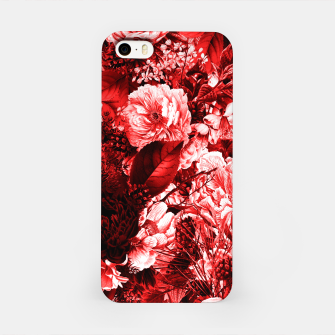 winter flowers seamless pattern 01 big lovely red iPhone Case thumbnail image