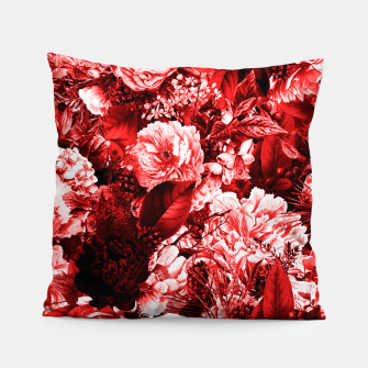 winter flowers seamless pattern 01 big lovely red Pillow thumbnail image
