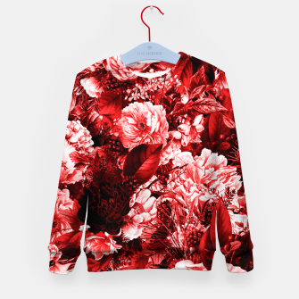 winter flowers seamless pattern 01 big lovely red Kid's sweater thumbnail image