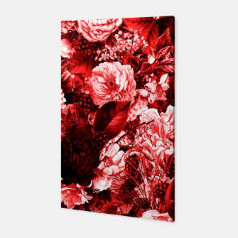 winter flowers seamless pattern 01 big lovely red Canvas thumbnail image