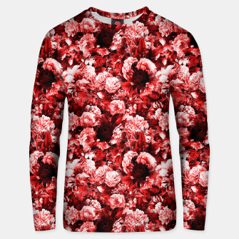 winter flowers seamless pattern 01 small lovely red Unisex sweater thumbnail image