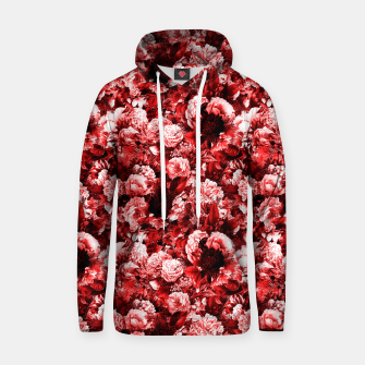 winter flowers seamless pattern 01 small lovely red Hoodie thumbnail image