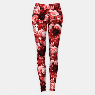 Miniaturka winter flowers seamless pattern 01 small lovely red Leggings, Live Heroes