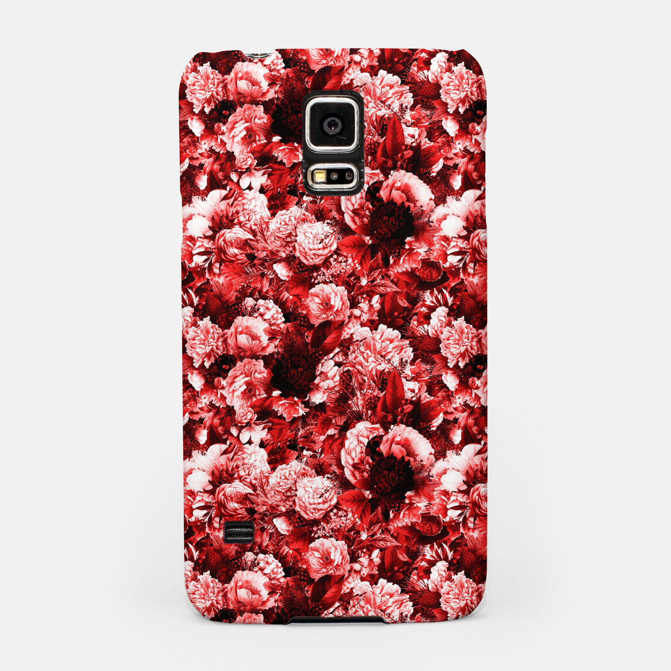 Image of winter flowers seamless pattern 01 small lovely red Samsung Case - Live Heroes