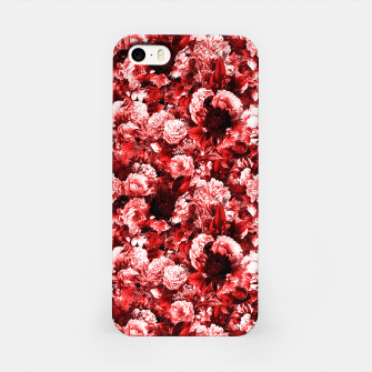 winter flowers seamless pattern 01 small lovely red iPhone Case thumbnail image