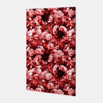 winter flowers seamless pattern 01 small lovely red Canvas thumbnail image