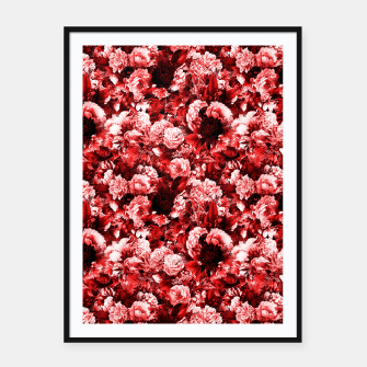 winter flowers seamless pattern 01 small lovely red Framed poster thumbnail image