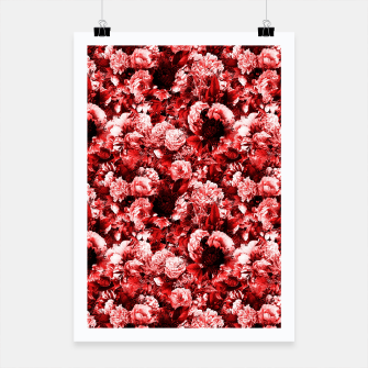 winter flowers seamless pattern 01 small lovely red Poster thumbnail image