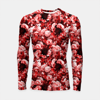 winter flowers seamless pattern 01 small lovely red Longsleeve rashguard  thumbnail image
