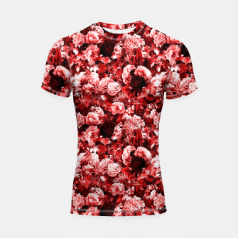winter flowers seamless pattern 01 small lovely red Shortsleeve rashguard thumbnail image