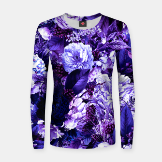 winter flowers seamless pattern 01 big purple Women sweater thumbnail image