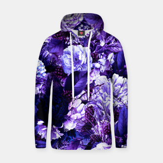 winter flowers seamless pattern 01 big purple Hoodie thumbnail image