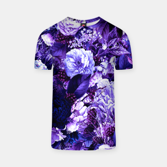 winter flowers seamless pattern 01 big purple T-shirt thumbnail image