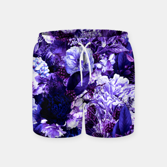 winter flowers seamless pattern 01 big purple Swim Shorts thumbnail image