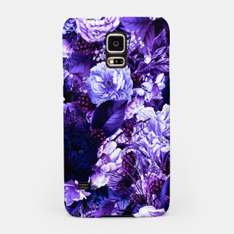 winter flowers seamless pattern 01 big purple Samsung Case thumbnail image