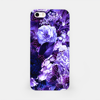 winter flowers seamless pattern 01 big purple iPhone Case thumbnail image