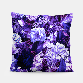 winter flowers seamless pattern 01 big purple Pillow thumbnail image
