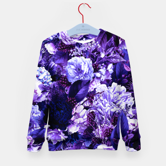 winter flowers seamless pattern 01 big purple Kid's sweater thumbnail image