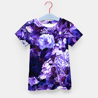 winter flowers seamless pattern 01 big purple Kid's t-shirt thumbnail image